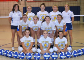 DCC girls volleyball team