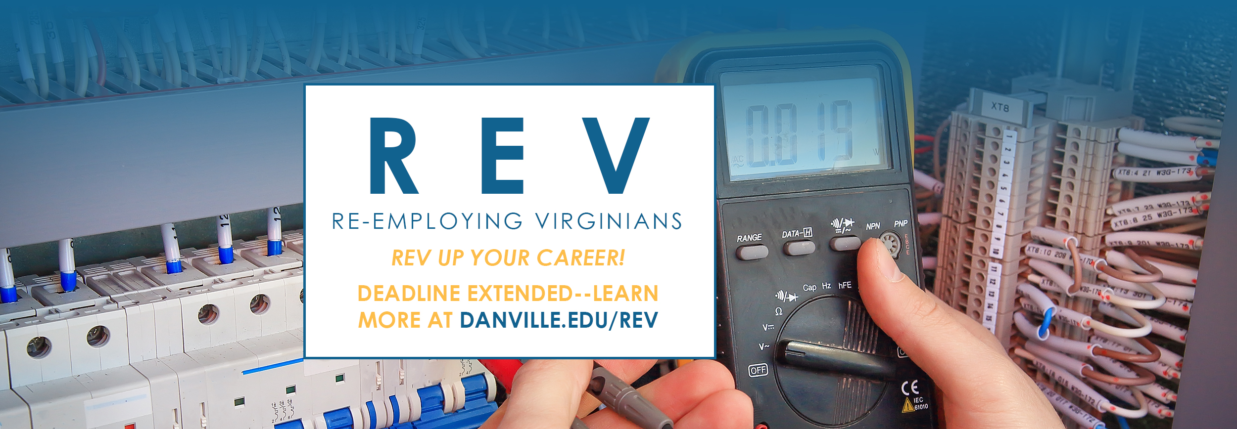 R E V REV re-employing virginians graphic