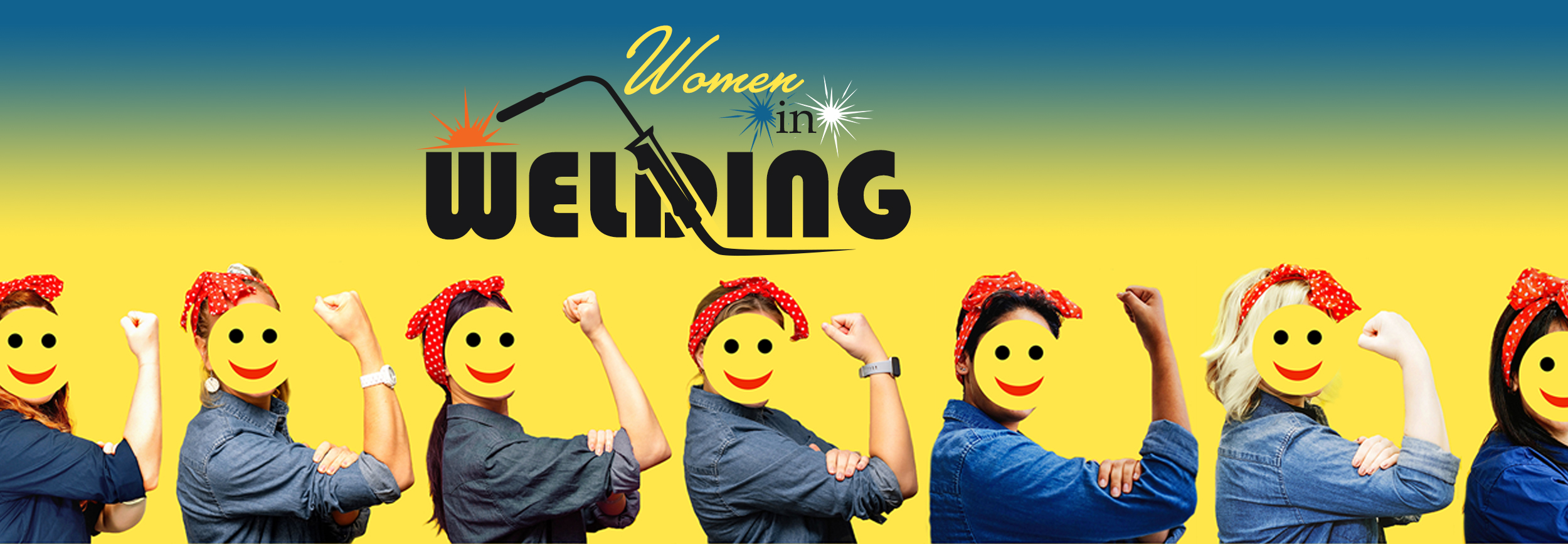 women in welding header graphic